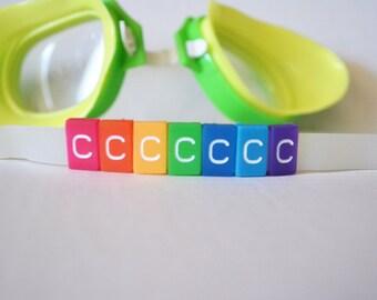 C Letter Tile - Swim Goggle Accessory