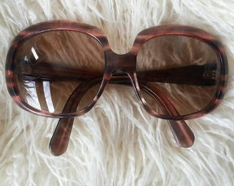 Vintage 70's Sunglasses Squared Glasses Oversized Sunglasses by PLAYGIRL Made in France . Rare piece