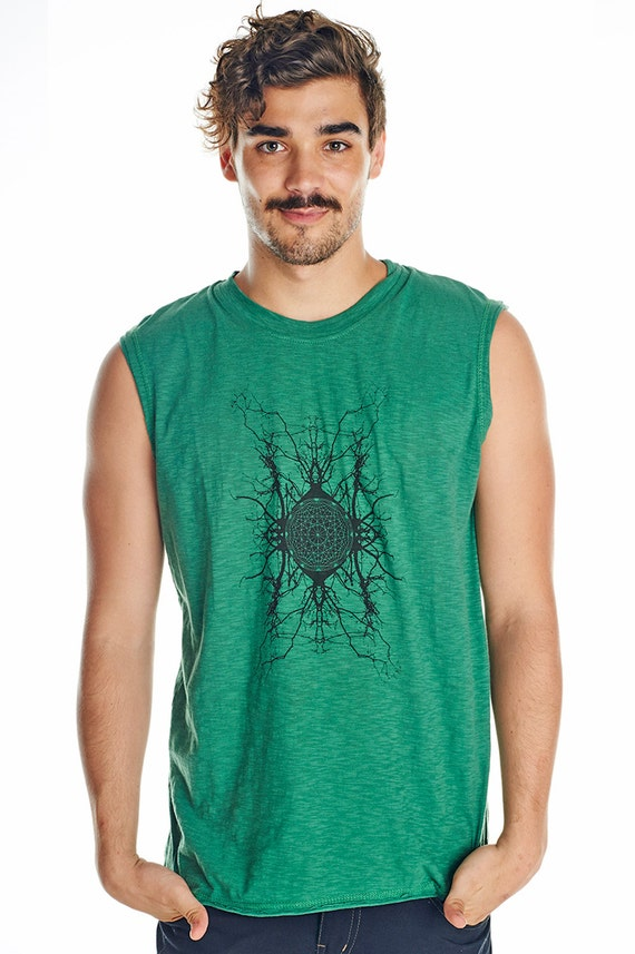 Emerald green men 39 s singlet funky steampunk singlet Emerald green mens dress shirt