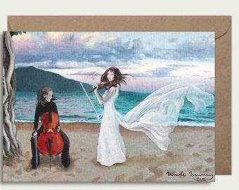 Greeting card - Ceol na Mara (the music of the sea)