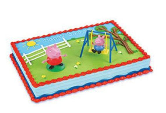 Peppa Pig Swing Set Cake Decoration Decoset Cake Topper Set