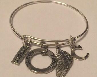 Imagine, Dream Inspiration Adjustable Bracelet