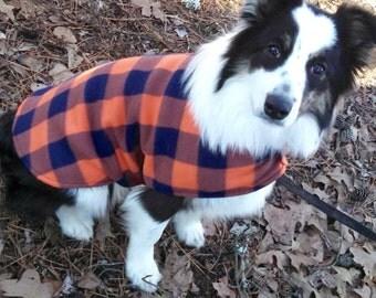 Dog Sweater, Reversible Double Fleece Dog Coat, Pet Attire, Dog Accessories