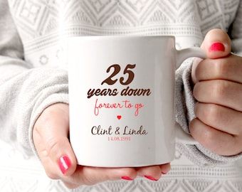 25th wedding anniversary Etsy