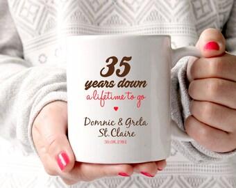 35th anniversary gift 35th wedding anniversary 35th anniversary35 years marriage personalised