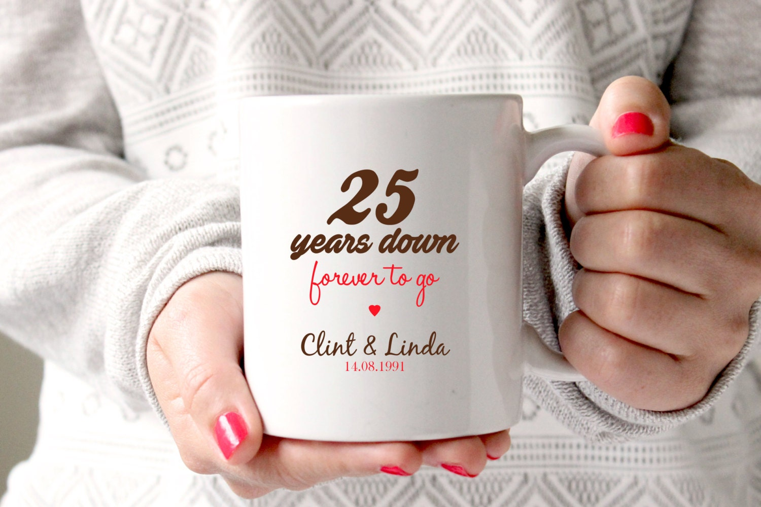 25th anniversary gift 25th wedding 25th wedding anniversary gifts 25th anniversary 25 years marriage personalised zoom