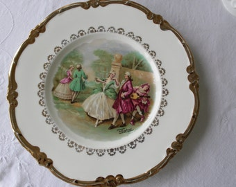 Plate Mayfair Fine Bone China (scene Fragonard, M. Langbroek), made in England
