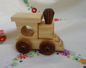 Toy Train - Solid wood childs toy train