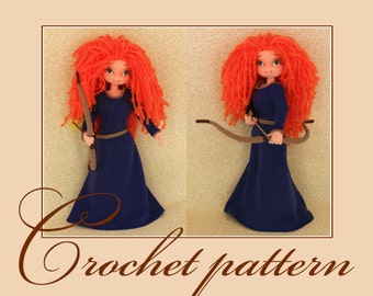 Brave-Amigurumi Crochet Pattern PDF file by Anna Sadovskaya