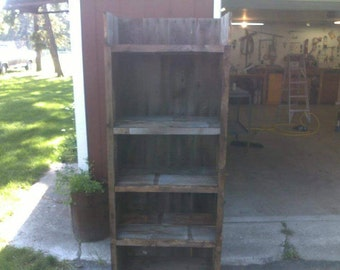 Custom Barn Wood Book Shelf