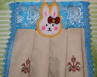 Декоративное льняное полотенце