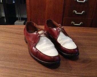Vintage 1950's FLORSHEIM Two Tone Leather Shoes