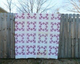 Hand Quilted Vintage Quilt
