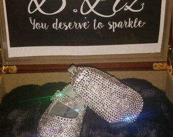 Holiday Baby Bling Crib Shoe