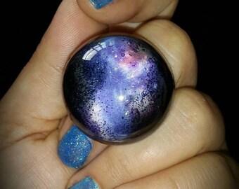 Blue Galaxy Ring. Inergalactic Jewellery. Cosmic Nebula.