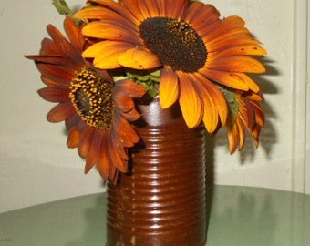 HAND RUSTED recycled CANS