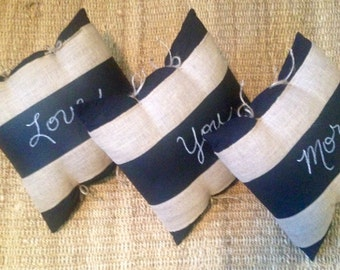 17x17 Whimsical Chalkboard Pillows - write your own message