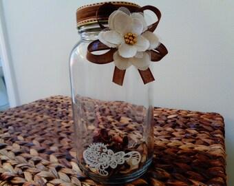 Vintage Jar/romance/retro/boho/home accent/her gift/unique/natural