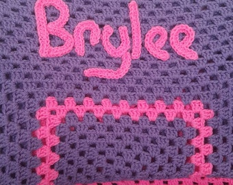Custom made baby blanket with babys name
