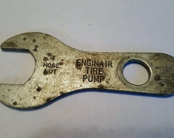 Vintage Enginair Tire Pump Wrench Tool, 1940s
