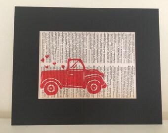 "Truck Full o' Love 5""x7"" print"