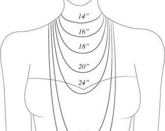 Necklace and bracelet length/size