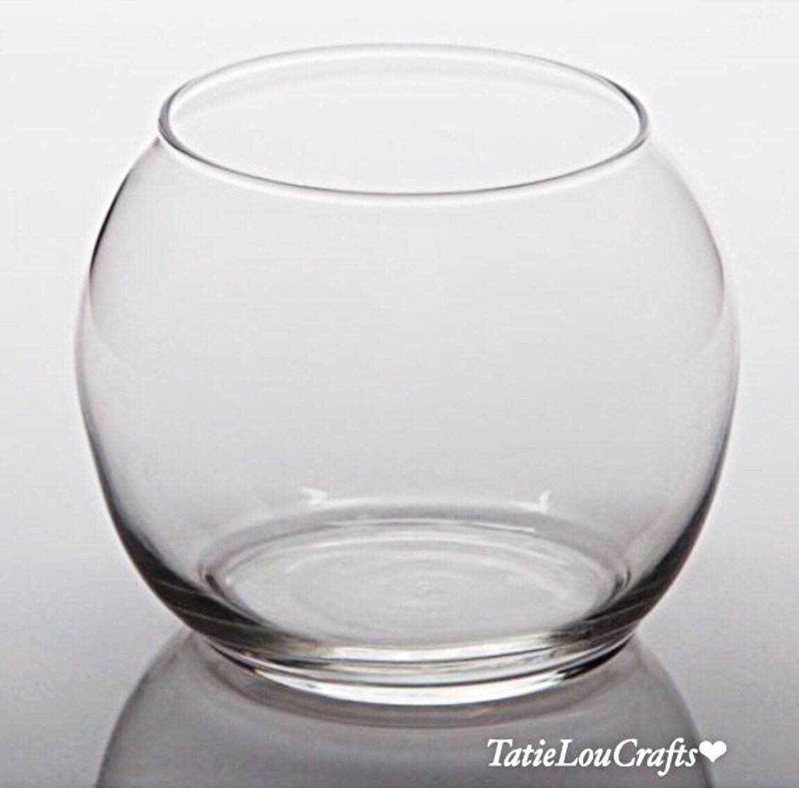 Glass bubble ball vase 8 inch fish bowl terrariumplanter for Bubbles in fish bowl