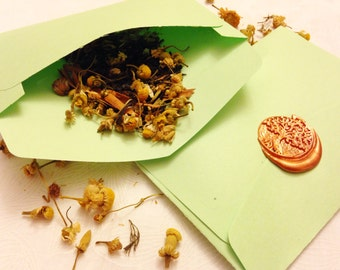 PROSPERITY Spell Envelope - Complete Spell for Money, Wealth, Success, Fulfillment, Luck Spell. For Rituals and Magick. Uses Fresh Herbs.
