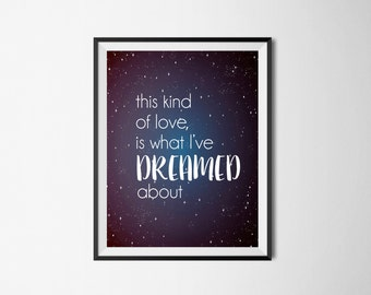 This Kind of Love | 8x10 Print | Wedding Gift | Shower Gift | Home Decor | Artist Gifts | Typography Print | Typography Wall Art