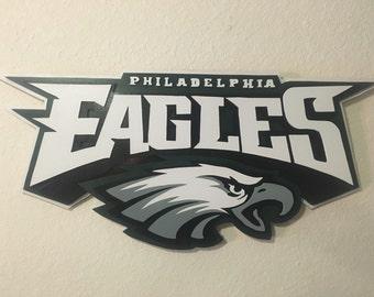 Philadelphia Eagles Wall Art Decor, Wood Art, Wall Decor
