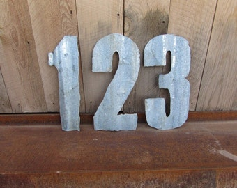 Numbers. Monogram. Metal Numbers. Rustic metal numbers.
