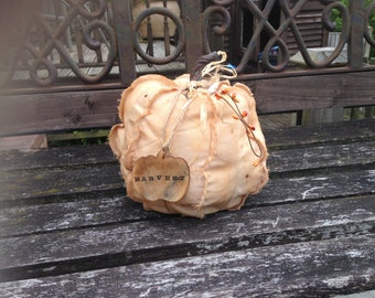 Large Primitive fabric pumpkin