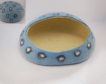 Blue cat bed Felted cat bed Cat cave Felted cat cave Cat nap cocoon Cat felted cave Pet bed Cat nap cocoon Katzenhöhle