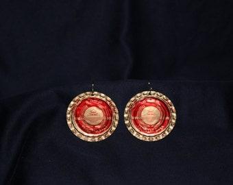 Tsingtao Beer Bottlecap Earrings