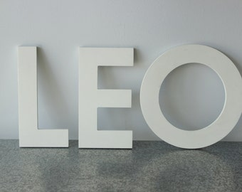 Vintage White Plastic Letters Lot , Marquee Letters, Store Signage,  L-E-O-H-R, Lot of 10