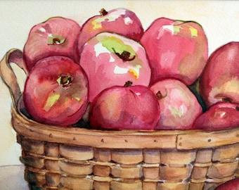 The Harvest Original Watercolor by Rhonda Lynch