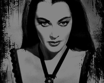 the munsters - horror - black t-shirt - lily munster