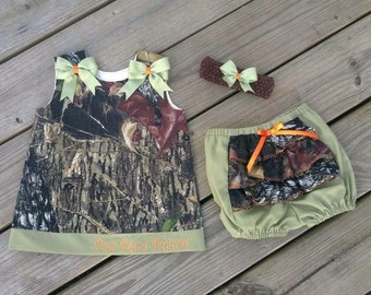 Handmade Camouflage dress with bloomers