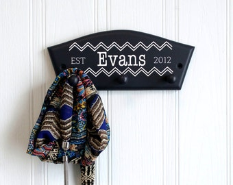 Chevron personalised coat hook, personalised wedding gift, coat hook, personalised coat hook, new home gift, anniversary gift