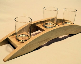 Arched votive candle holder