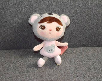 Doll dressed in bear 22 cm Keychain pink lovely Metoo plush soft toy, stuffed with plush, kawaii style