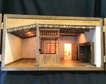 "1/2"" or 1:24 Scale Miniature Room Box"