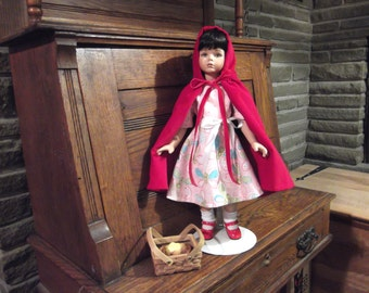 Little Red Riding Hood Porcelain Doll hand-made in America by Susanna Rose