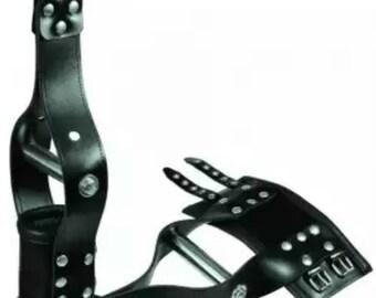 Suspension cuffs for hands, genuine leather