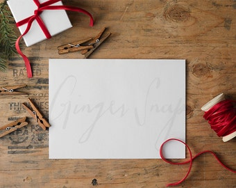Styled Stock Photography | Christmas Stationary and Gifts | Christmas Stock Photo | Holiday Stock Photography | Digital Image