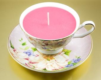 Candle Teacup & Saucer