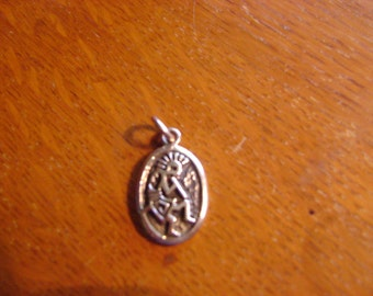 Vintage Sterling Silver Pendant Kokopelli the Flute Player