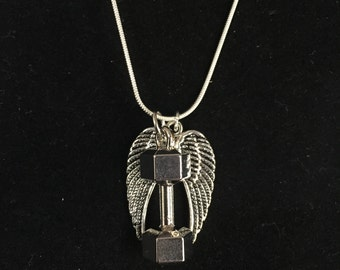 Faith and Fitness Angel Wings Necklace