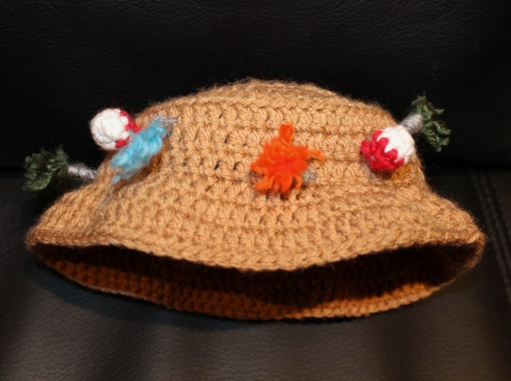 Baby kids fishing hat by 3bearsandacat on etsy for Baby fishing hat