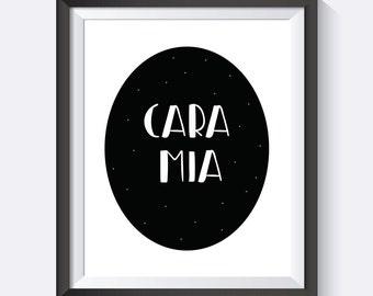 Addams Family, Cara Mia, Gomez Addams, Morticia Addams, Wednesday Addams,  Digital Print Wall Art